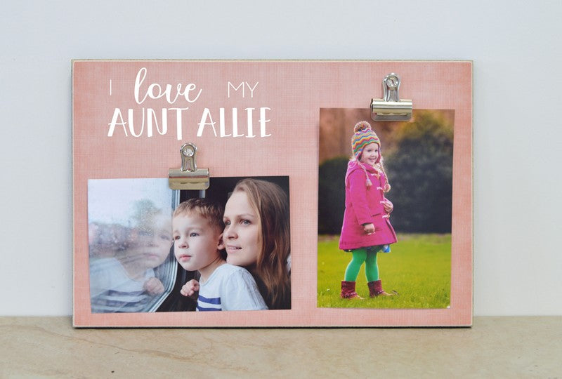 favorite aunt photo frame gift, i love my auntie