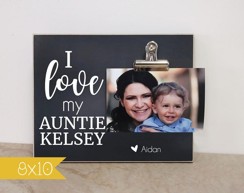 I Love My Aunt Picture Frame Personalized Gift For Aunt Dandelion
