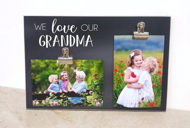we love our grandma frame