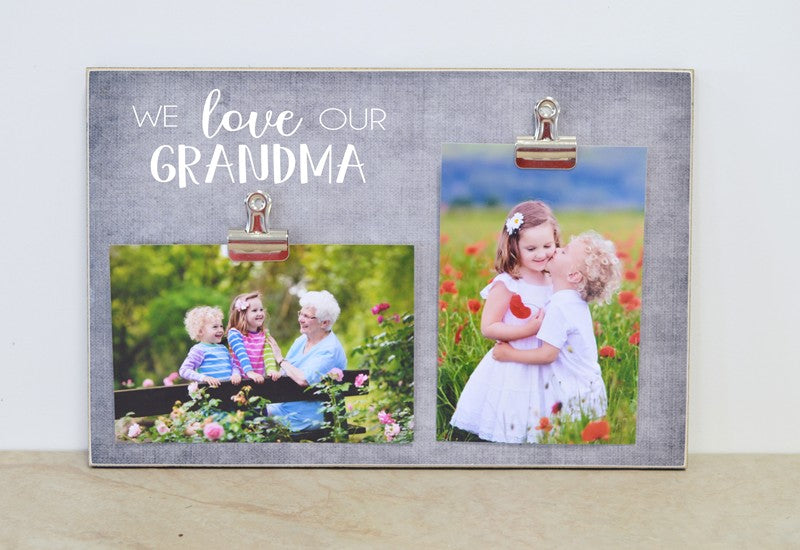 mothers day gift for grandma, i love my grandma, grammy, nana, mimi, meme, gigi frame