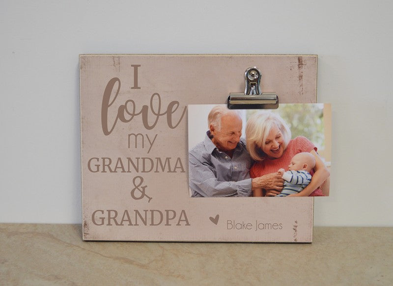 gift for grandma and grandpa photo frame
