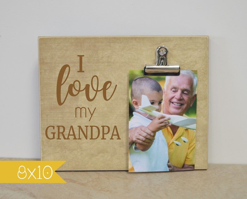 grandpa gift personalized photo frame