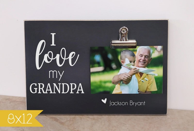 father's day picture frame gift for grandpa