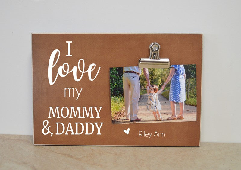 gift for mommy and daddy, gift for parents, personalized picture frame