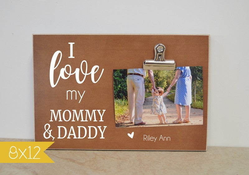 picture frame for mommy and daddy