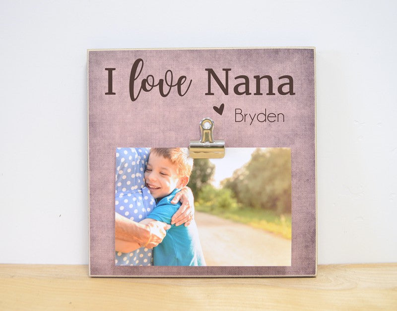 i love nana photo frame personalized gift