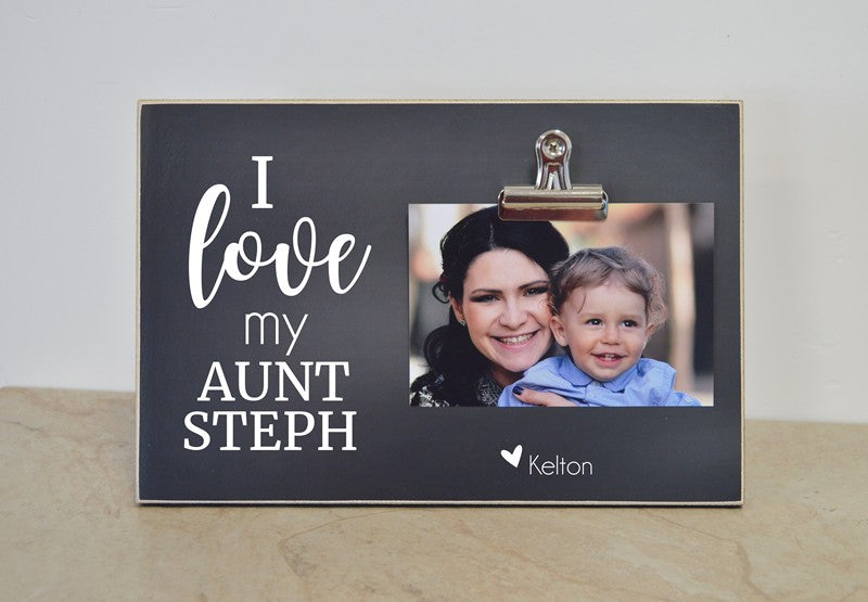 personalized picture frame gift for aunt