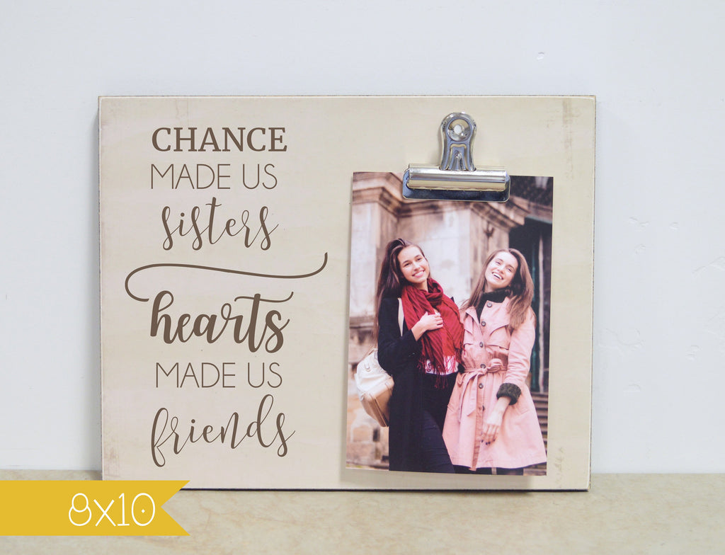 Sisters Gift, Personalized Photo Frame, Custom Picture Frame, Christmas Gift For Sister, Sister Photo Frame, Big Sister Gift Idea Frame