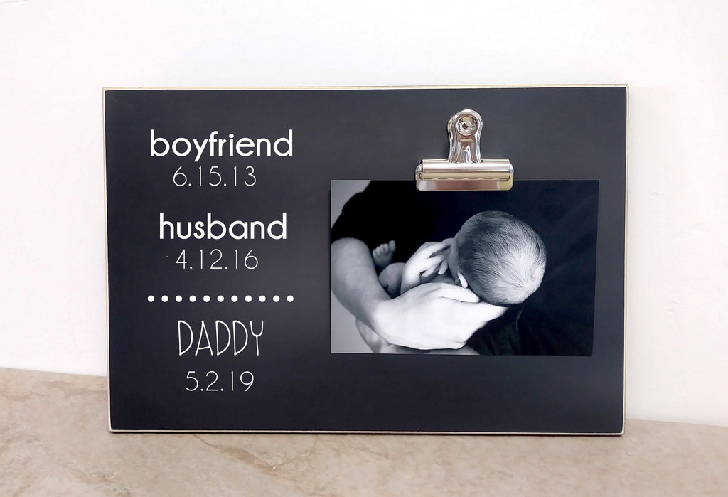 Christmas Gift For Dad, Personalized Picture Frame, Custom Photo Frame, Personalized Gift Idea For Men