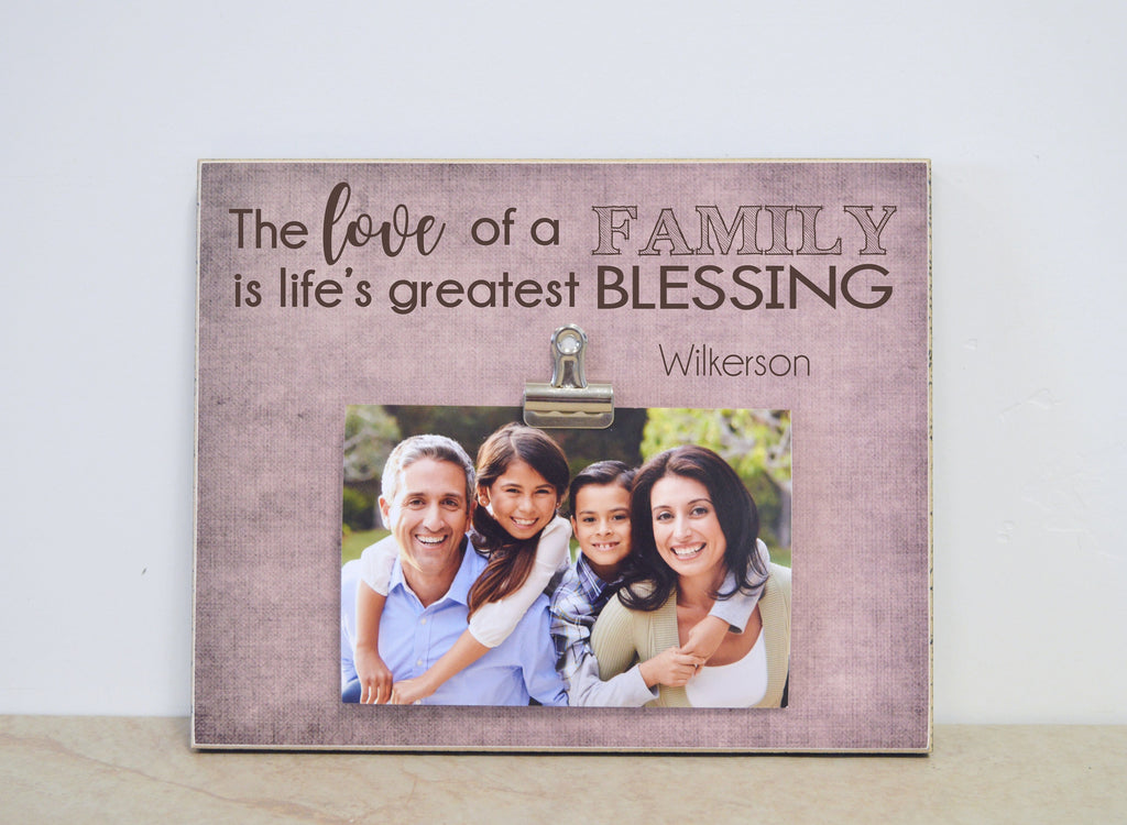 Family Picture Frame, Family Gift Frame, Personalized Photo Frame, Custom Picture Frame For Family, Family Photo Gift, Christmas Gift