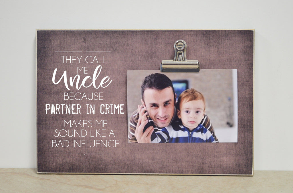 Personalized Uncle Picture Frame, Christmas Gift For Uncle  {Uncle Partner in Crime}  Photo Frame, Favorite Uncle Gift, Uncle Frame