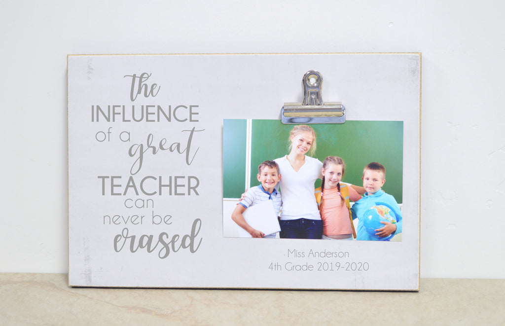 Personalized Gift For Teacher, Teacher Appreciation Gift, Best Teacher Ever, Picture Frame, Teacher Thank You Gift,  Teacher Photo Frame