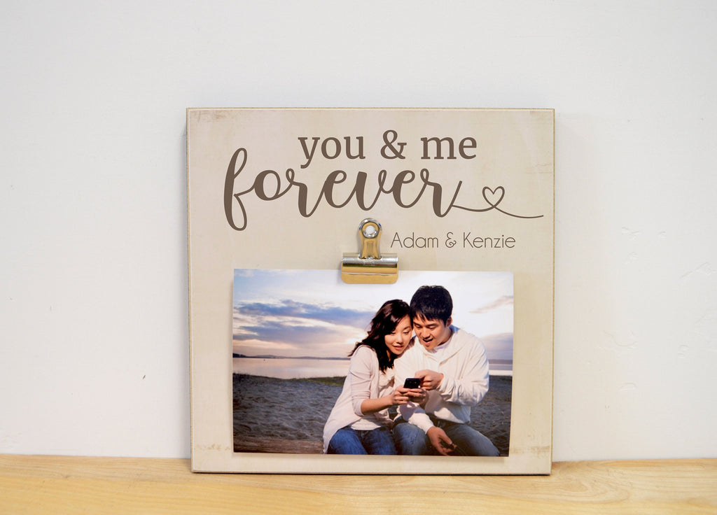 You & Me Personalized Photo Frame, Valentines Day Gift or Wedding Gift Couples, Engagement Gift For Her, Custom Picture Frame
