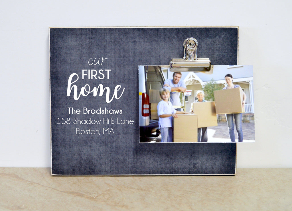 Housewarming Gift, HOME Frame, Personalized Photo Frame, New Home Gift, Custom Picture Frame, Going Away Gift, Gift For New Home