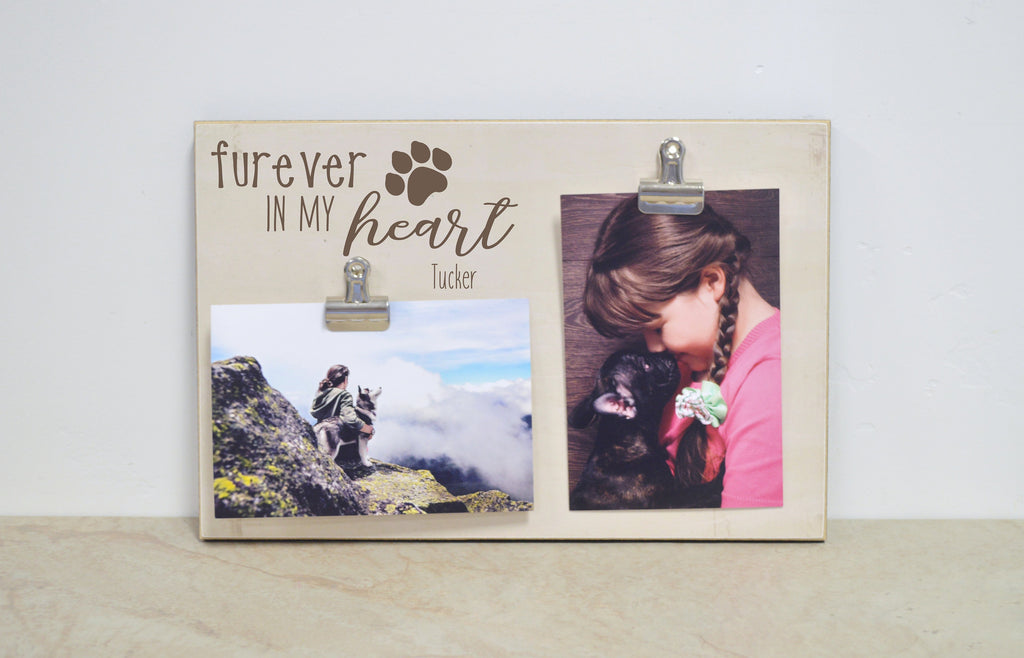 Pet Picture Frame - Furever in my Heart - Dog Frame in 8x10 or 8x12; Dog Lover's Gift, Gift for Pets