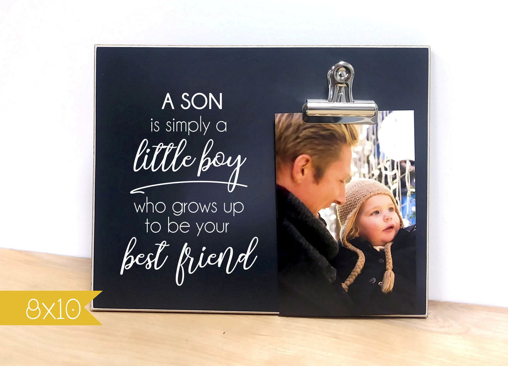 Christmas Gift For Dad - Little Boy Grows Up to be Your Best Friend, Father Son Gift, Custom Picture Frame, Dad Photo Frame
