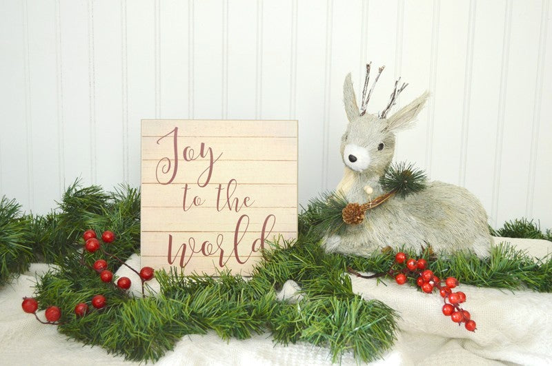pallet style christmas sign, joy to the world, christmas decor
