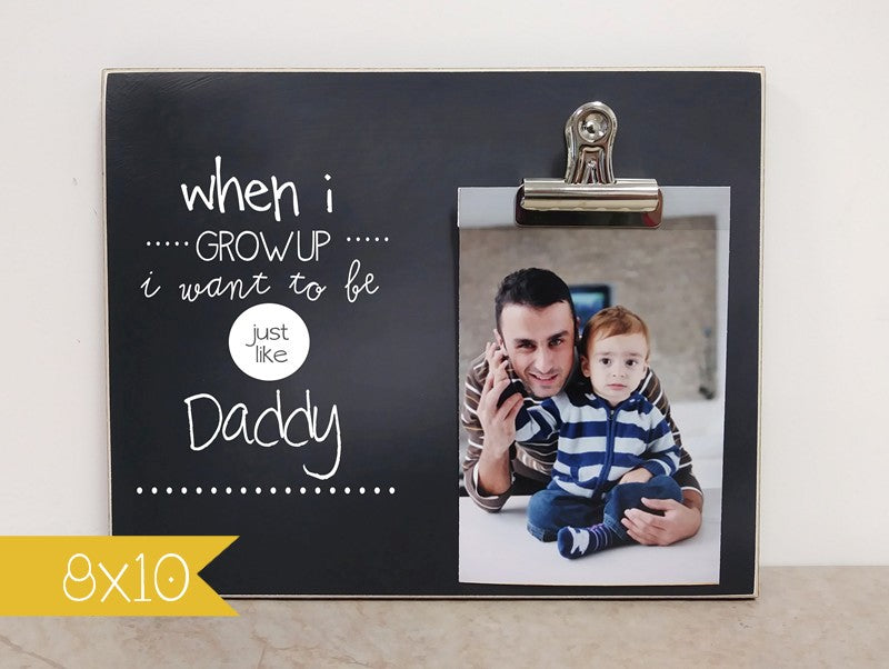 personalized photo frame fathers day gift idea gift for dad, daddy gift, birthday gift for dad