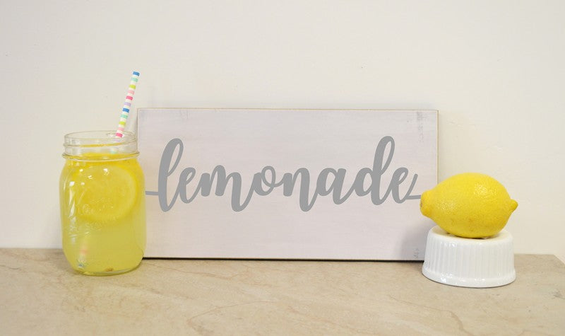 lemonade sign for lemonade stand, lemonade bar, birthday party sign, wedding decor