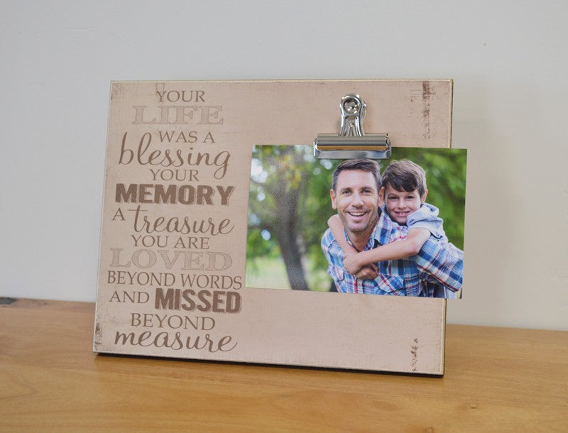 your life was a blessing, funeral decoration celebreation of life photo frame