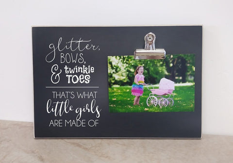 thats what little girls are made of photo frame baby shower gift