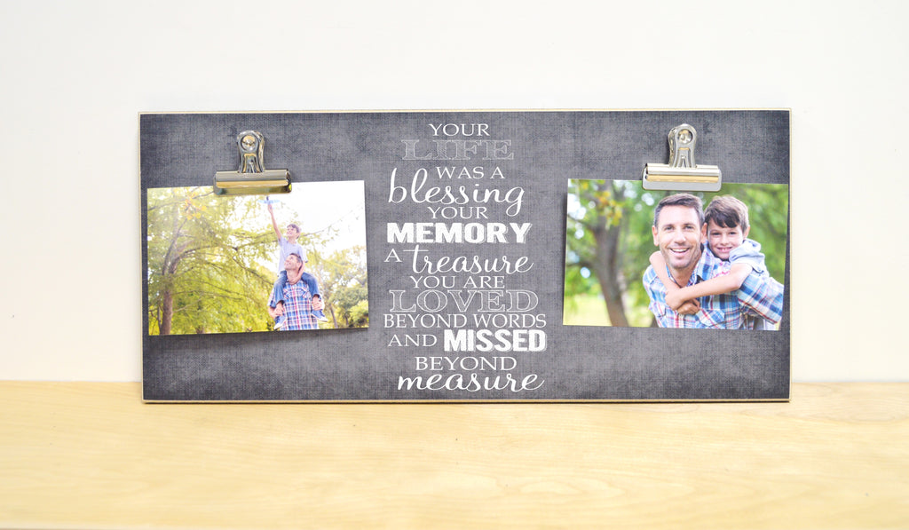 sympathy gift photo frame, memorial gift, your life was a blessing your memory a treasure
