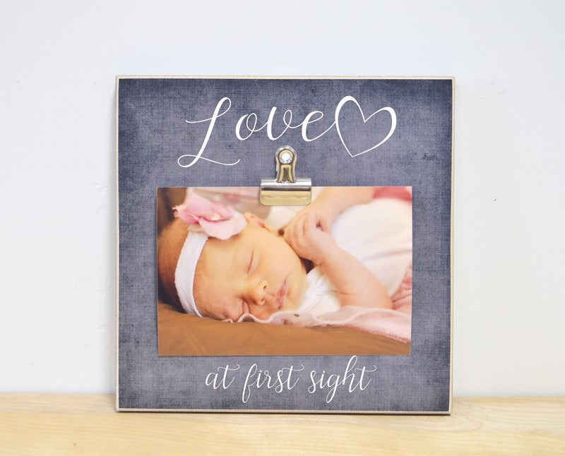 Love At First Sight, Pregnancy or New Baby Photo Frame