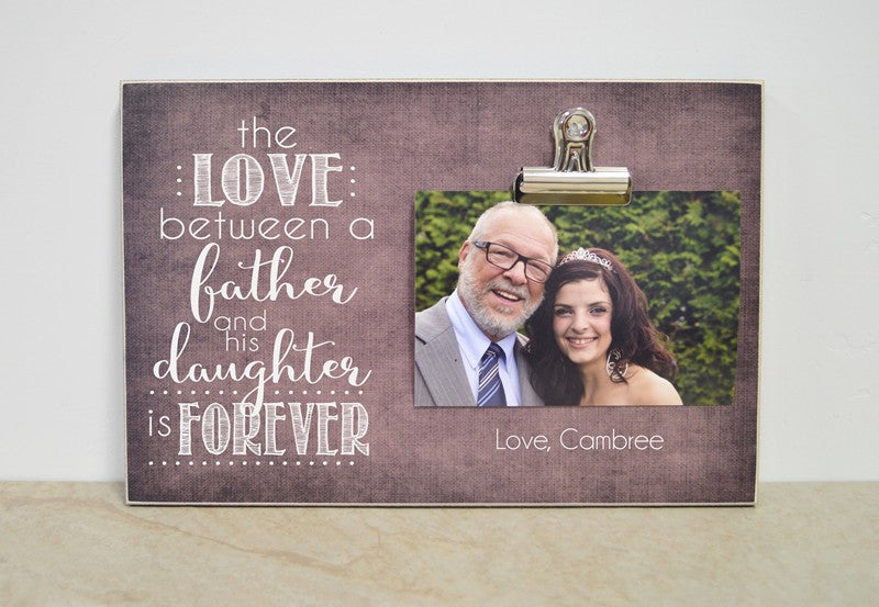 father of the bride photo frame gift, love between father and daughter