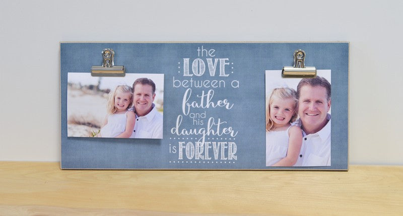 love between father and his daughter photo frame