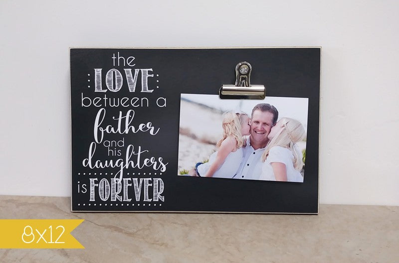 personalized father daughter photo frame, custom gift idea, father's day gift for dad