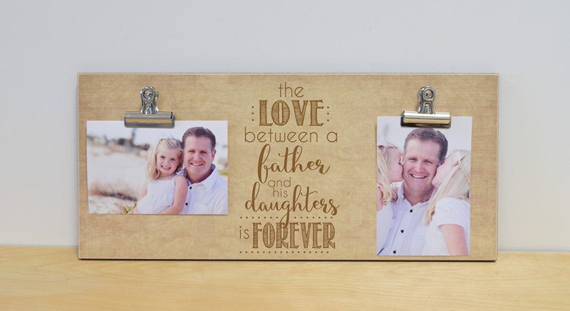 father daughter photo frame love between - custom gift for dad father's day gift