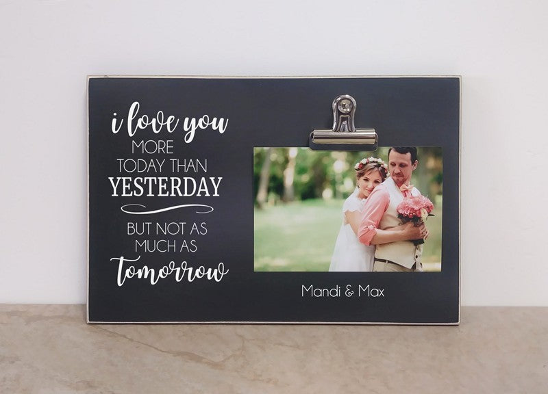 chalkboard photo frame wedding gift, bridal shower gift, engagement gift, valentines day gift