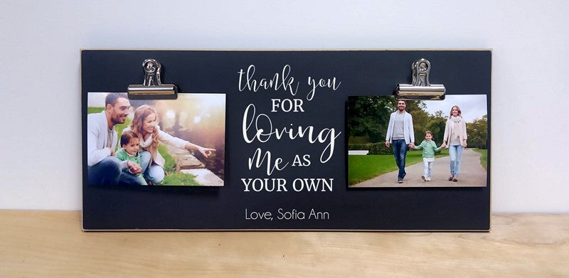 thank you for loving me as your own stepmother gift, stepdad gift, gift for step parents, adoptive parent gift