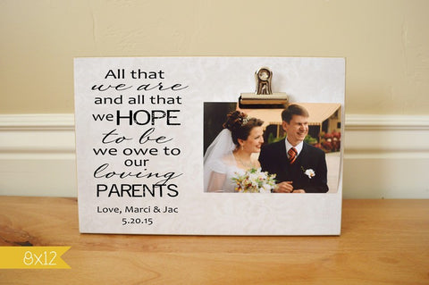 Parents of the Bride or Parents of the Groom Photo Frame – Dandelion ...