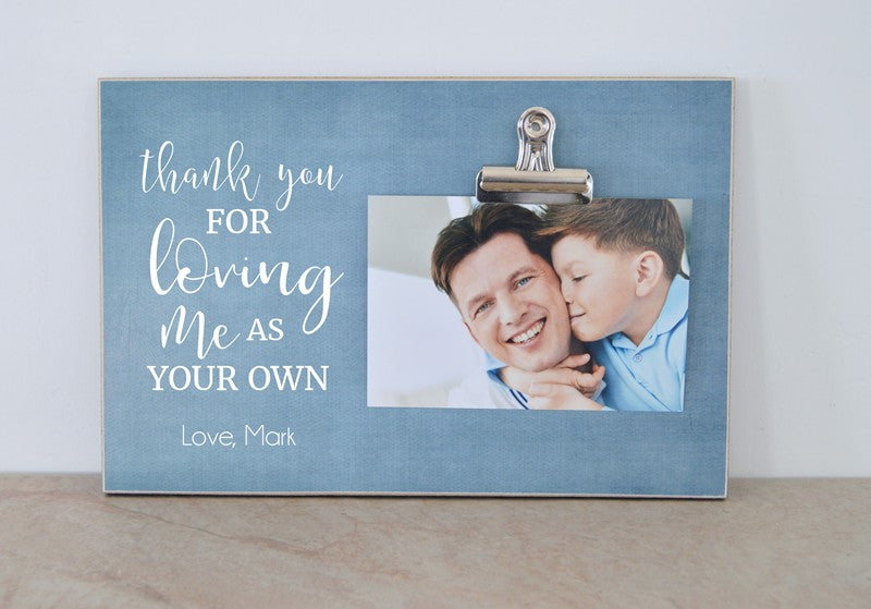 stepfather birthday gift, fathers day gift for dad photo frame