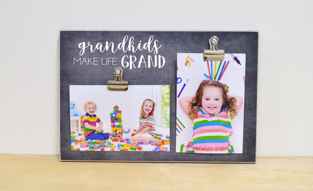 grandparent photo frame, grandkids photo frame, grandchildren photo frame, grandkids make life grand