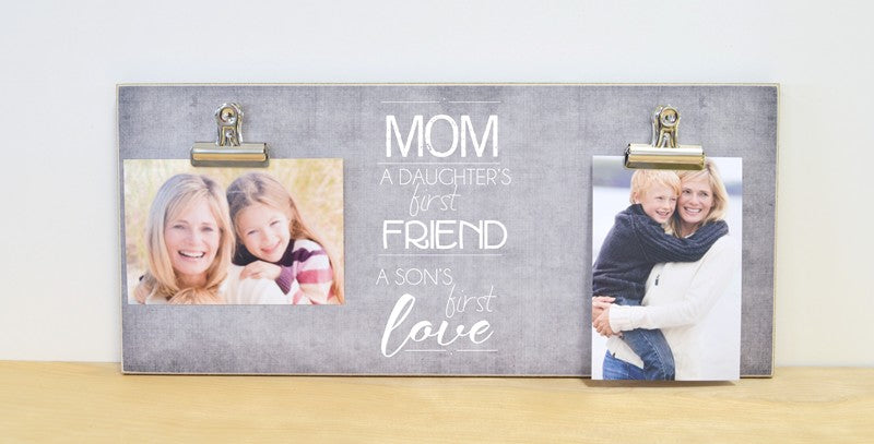 mother daughter, mother son photo frame, mothers day gift for mom
