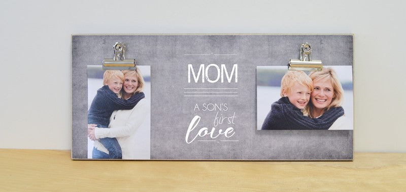 mom a sons first love photo frame, mothers day gift for mom