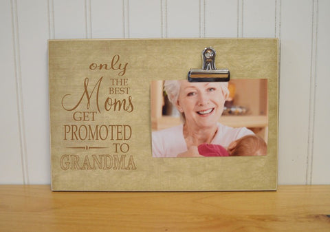 pregnancy reveal to grandma, mother's day picture frame, moms promoted to grandma photo frame
