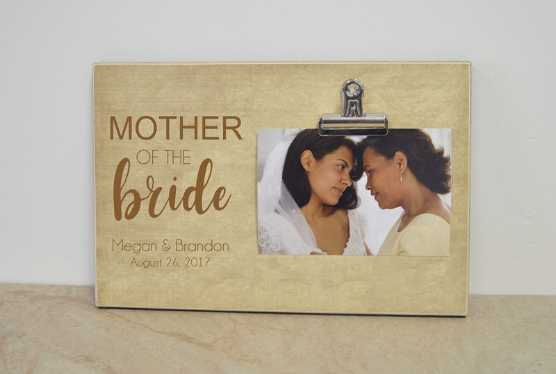 Mother of the bride picture frame, personalized wedding thank you gift
