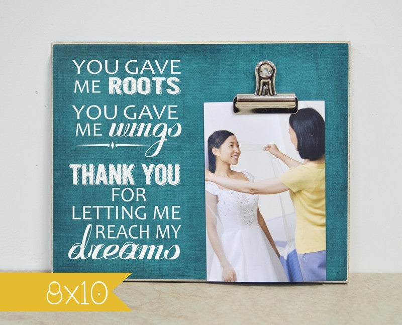 You Gave Me Roots, You Gave Me Wings ... Wedding Thank You Gift