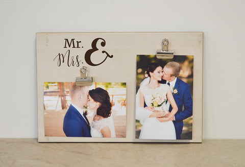 mr and mrs wedding frame, photo frame for bride and groom