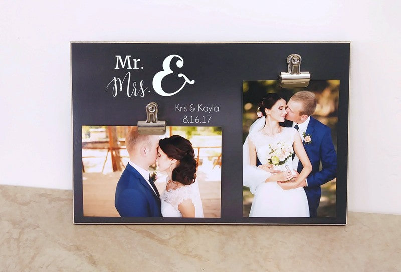 wedding decor, mr and mrs frame, gift for bride, bridal shower gift