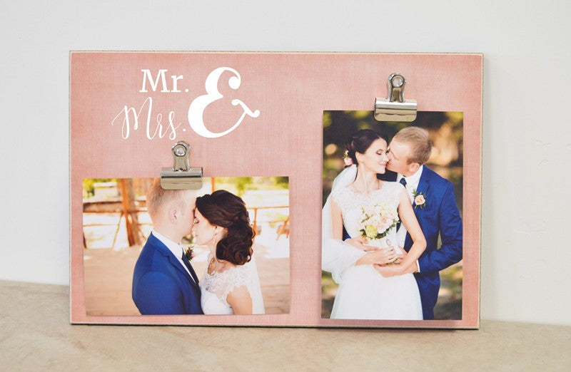 personalized gift for bride and groom, wedding gift, wedding ideas, mr and mrs frame, wedding decoration