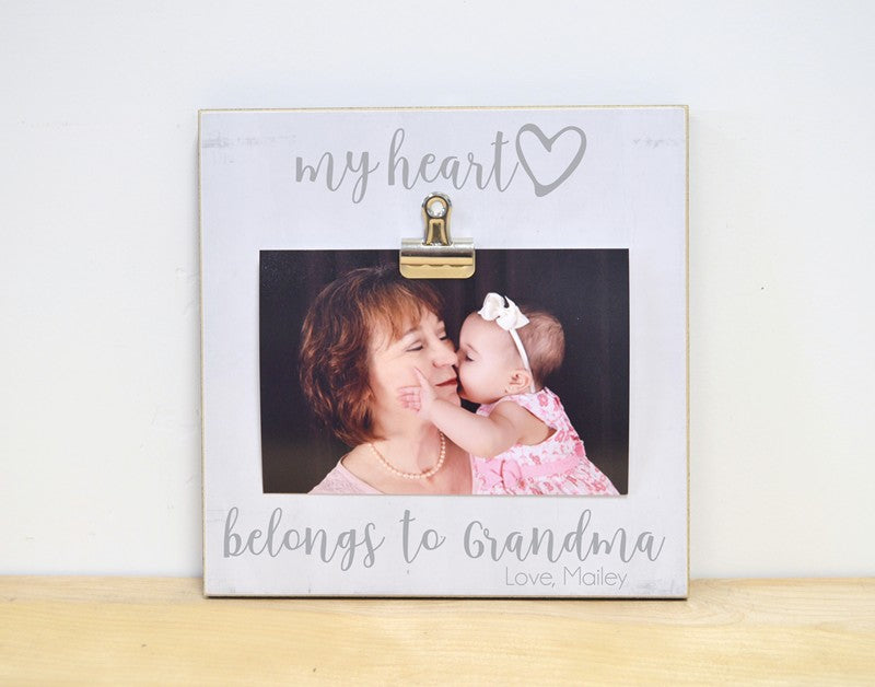 my heart belongs grandma frame