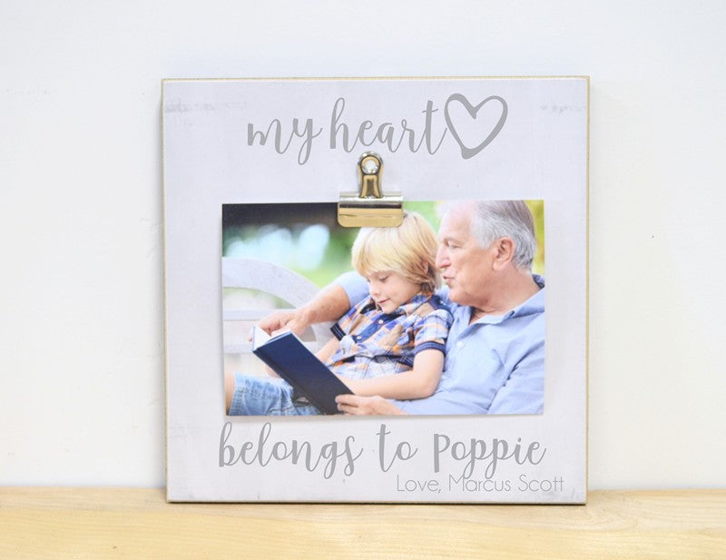 my heart belongs poppie frame