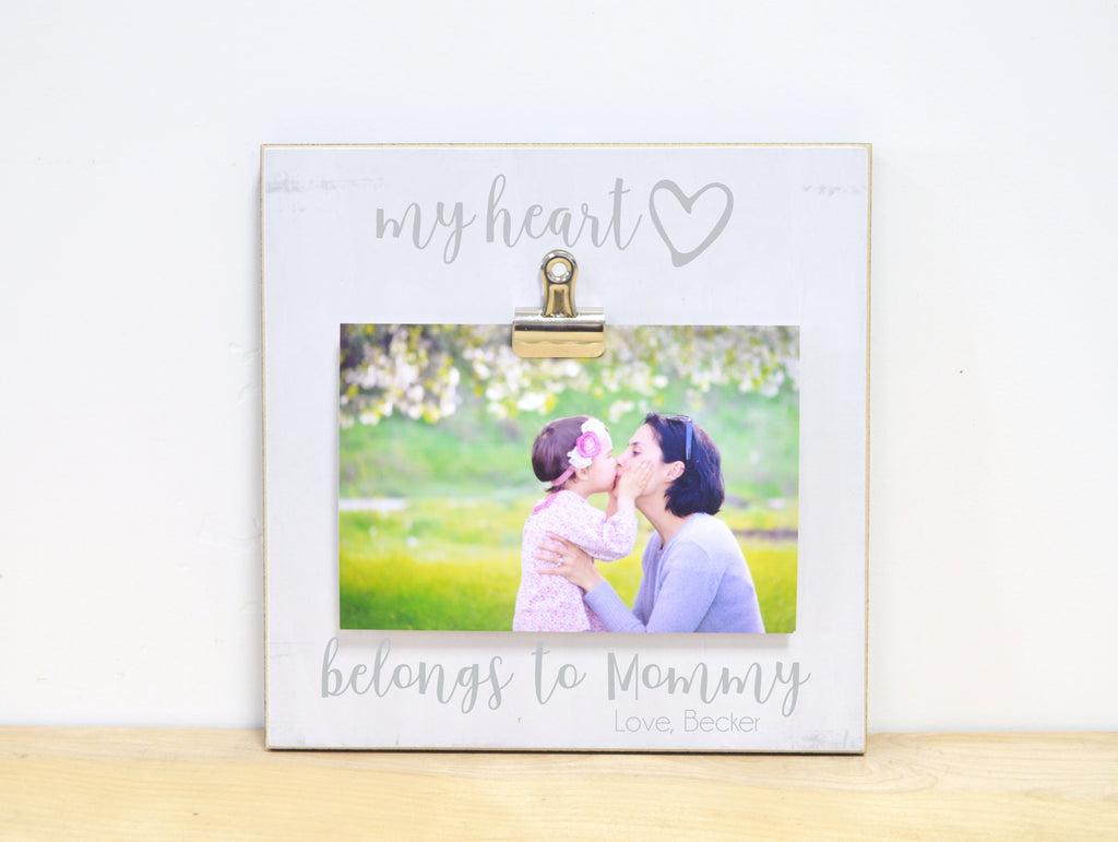 My Heart Belongs to Mommy, Personalized Photo Frame