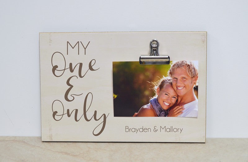 my one and only anniversary photo frame, 5th anniversary gift, wooden anniversary gift, valentines day decor, valentines day picture frame