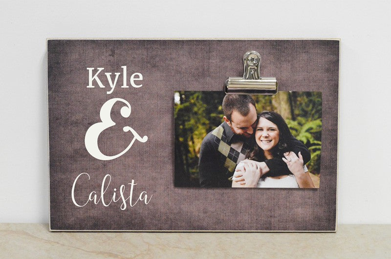 Anniversary or Wedding Gift For Couple, Personalized Frame