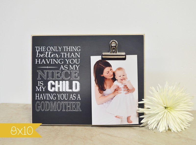 godmother thank you gift picture frame
